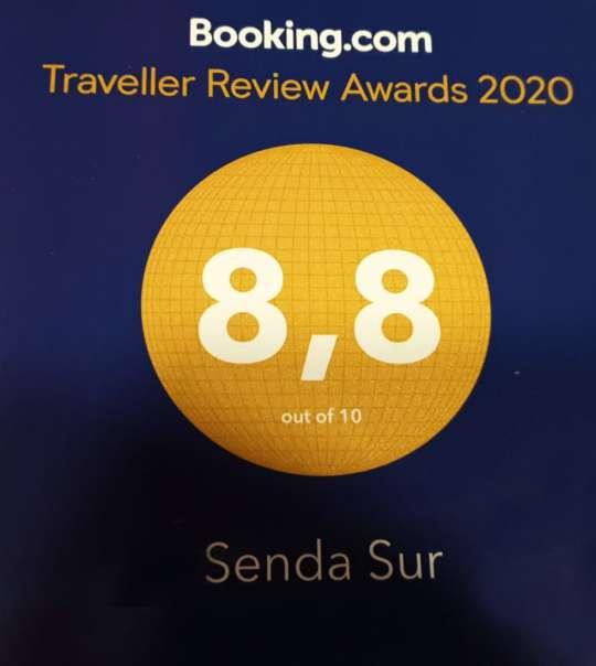 Puntuación media de nuestros visitantes en Booking